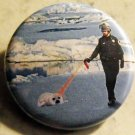 PEPPER SPRAY COP SPRAYS A SEAL pinback button badge 1.25""