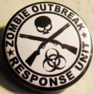 ZOMBIE OUTBREAK RESPONSE UNIT pinback button badge 1.25""