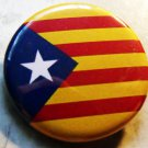 CATALONIA FLAG pinback button badge 1.25""