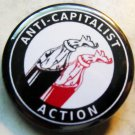 ANTICAPITALIST ACTION pinback button badge 1.25""