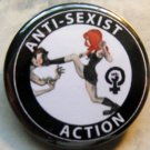 ANTI-SEXIST ACTION pinback button badge 1.25""