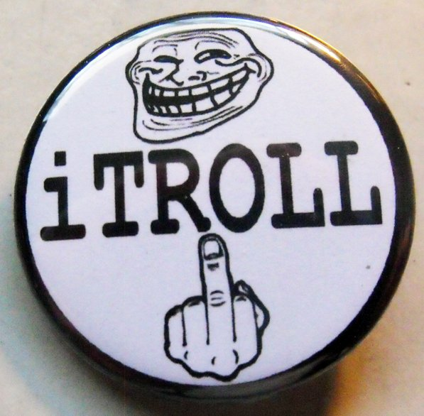iTROLL pinback button badge 1.25""