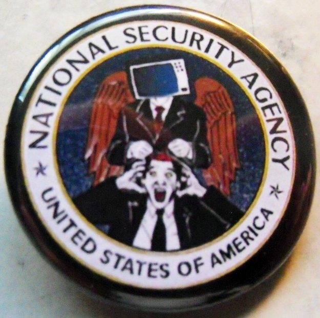 "NSA pinback button badge 1.25"""