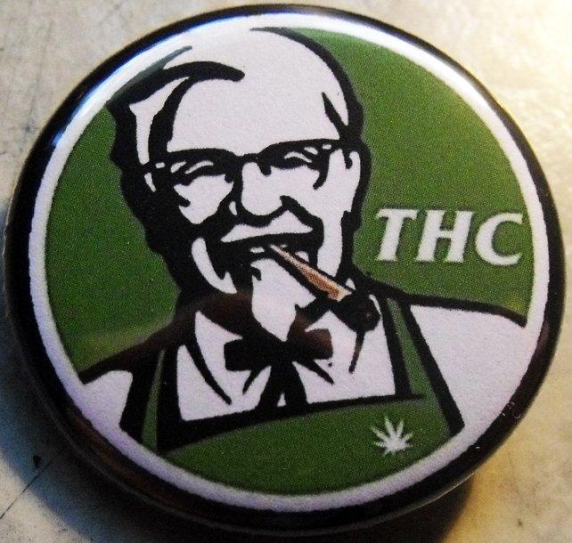 "KFC THC pinback button badge 1.25"""