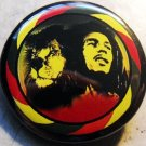 RASTA BOB MARLEY LION pinback button badge 1.25""