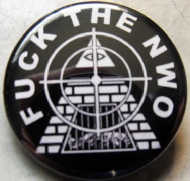 FUCK THE NWO pinback button badge 1.25""