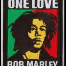 "Bob Marley One Love Embroidered Iron-on Patch 3.5"" inches x 2.75"" inches PLUS  2 FREE pins"