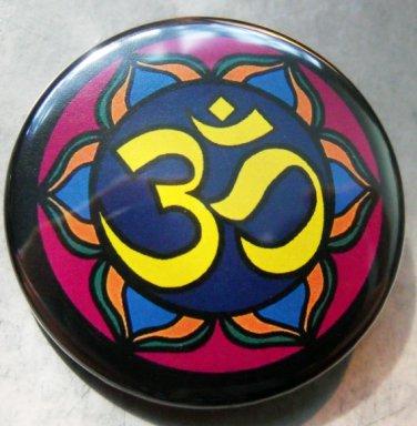 "OM #1 pinback button badge 1.25"""