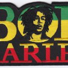 "BOB MARLEY EMBROIDERED IRON-ON PATCH #2 4.5"" x 2.25"" inches PLUS 2 FREE PINS"
