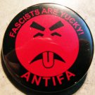 FASCISTS ARE YUCKY! ANTIFA pinback button badge 1.25""
