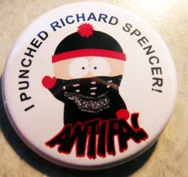 "I PUNCHED RICHARD SPENCER! ANTIFA pinback button badge 1.25"""