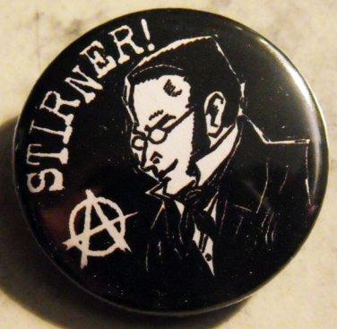 "STIRNER!   pinback button badge 1.25"""