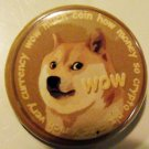 DOGECOIN #1 pinback button badge 1.25""