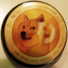 DOGECOIN #2 pinback button badge 1.25""