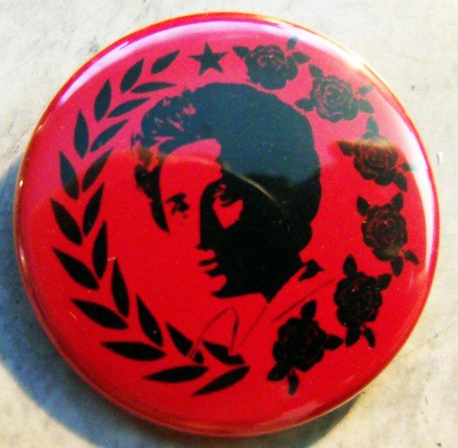"ROSA LUXEMBURG - BREAD & ROSES  pinback button badge 1.25"""
