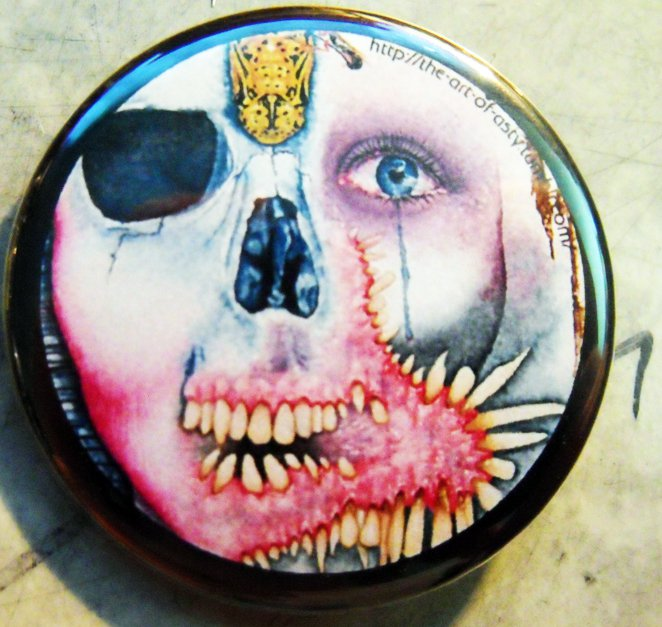 The Art of Asty #3  pinback button badge 1.75""