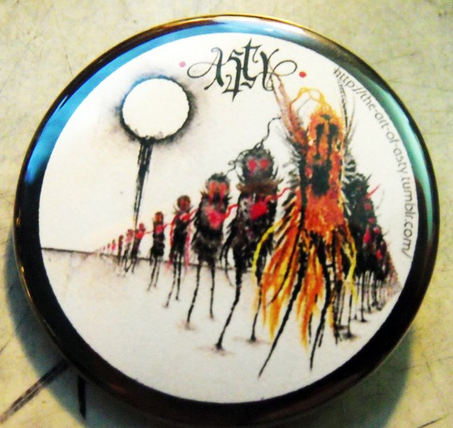 """The Art of Asty #5  pinback button badge 1.25"""""""
