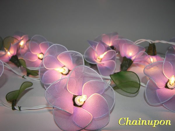 PURPLE FLOWERS STRING FAIRY HOME,INDOOR,BEDROOM LIGHTS