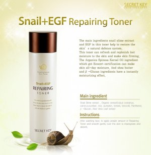 Secret Key - Snail + EGF Repairing Toner 150ml