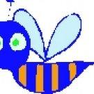 Busy Blue Bee Return Address Labels