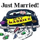 Just Married Car Design Return Address Labels