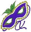 Mardi Gras mask Return Address Labels