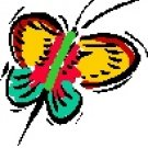 Butterfly #1 Return Address Labels