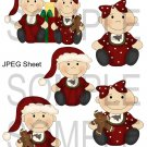 Christmas Babies 1-Emailed as JPEG File-Commercial and Personal Use