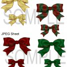 Christmas Bows 1-Emailed as JPEG File-Commercial and Personal Use