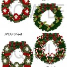 Christmas Wreaths 1-Emailed as JPEG File-Commercial and Personal Use