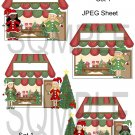 Christmas Cottages 1-Emailed as JPEG File-Commercial and Personal Use