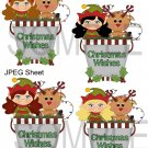 Christmas Pails 3-Emailed as JPEG File-Commercial and Personal Use