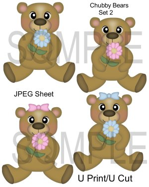 Chubby Bears 2-Emailed as JPEG File-Commercial and Personal Use