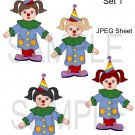 Clown Girls 1-Emailed as JPEG File-Commercial and Personal Use