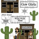 Cowgirls and Saloons 1-Emailed as JPEG File-Commercial and Personal Use