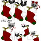 Critter Stockings 1-Emailed as JPEG File-Commercial and Personal Use