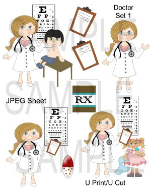 Doctor Set 1-Emailed as JPEG File-Commercial and Personal Use
