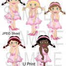 Dress Up Girls Pink 1-Emailed as JPEG File-Commercial and Personal Use