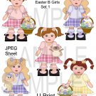 Easter B Girls-Emailed as JPEG File-Commercial and Personal Use