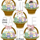 Easter Baskets 2-Emailed as JPEG File-Commercial and Personal Use