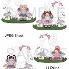 Fairies & Pegasus 1-Emailed as JPEG File-Commercial and Personal Use