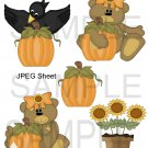 Fall Pumpkin Bear 1-Emailed as JPEG File-Commercial and Personal Use