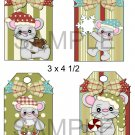 Christmas Mice 1-Hang Tags-Emailed as JPEG File-Commercial and Personal Use