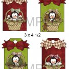 Penguin Boy Baskets 1-Hang Tags-Emailed as JPEG File-Commercial and Personal Use