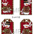 Snowman 1-Hang Tags-Emailed as JPEG File-Commercial and Personal Use