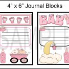 Baby Girl Journal - Emailed as JPEG File-Commercial and Personal Use