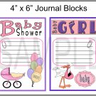 Baby Shower Girl/Baby Girl - Emailed as JPEG File-Commercial and Personal Use