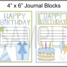 Happy Birthday Blue and Green JB - Emailed as JPEG File-Commercial and Personal Use