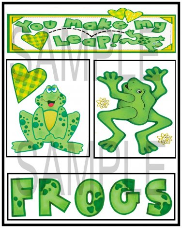 Frogs and You Make My Heart Leap - Emailed as JPEG File-Commercial and Personal Use