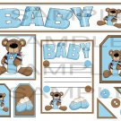 Baby Bear Boy 1 sc - Emailed as JPEG File-Commercial and Personal Use